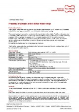 Fradiflex Stainless Steel Metal Water Stop