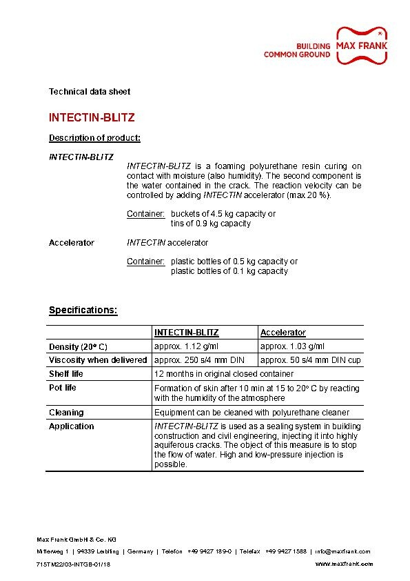 Résine d'injection Intestin Blitz (anglais)