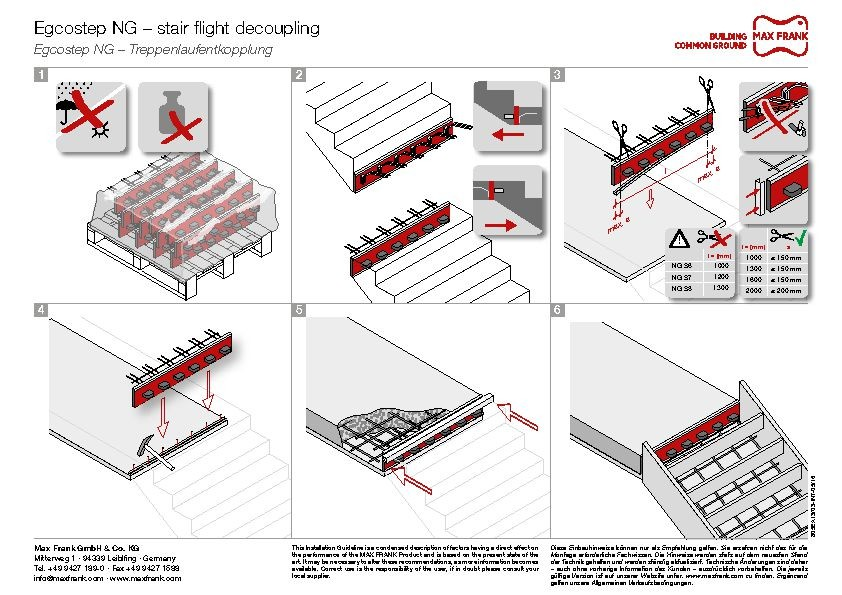 Stair flight decoupling Egcostep NG