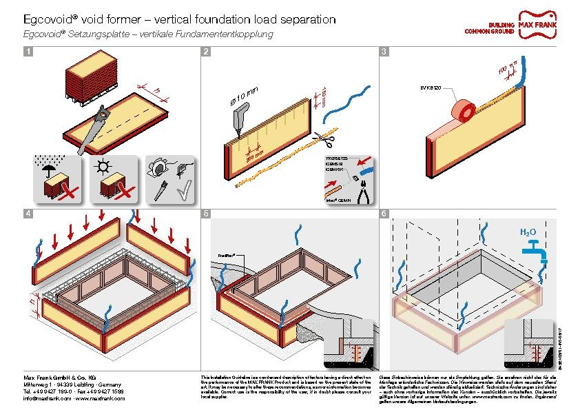 Void former Egcovoid® – vertical foundation load separation
