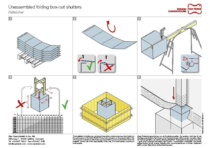 Folding metal box-outs