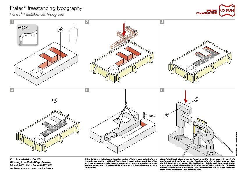 Shaping formwork Fratec® freestanding typography