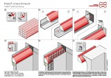 Shaping formwork Fratec® cornice formwork