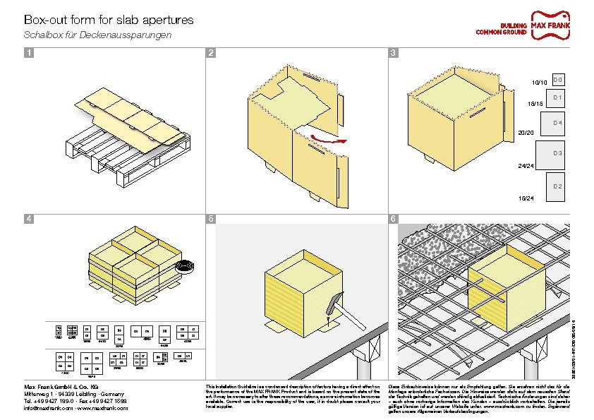 Cardboard box-outs for slab apertures