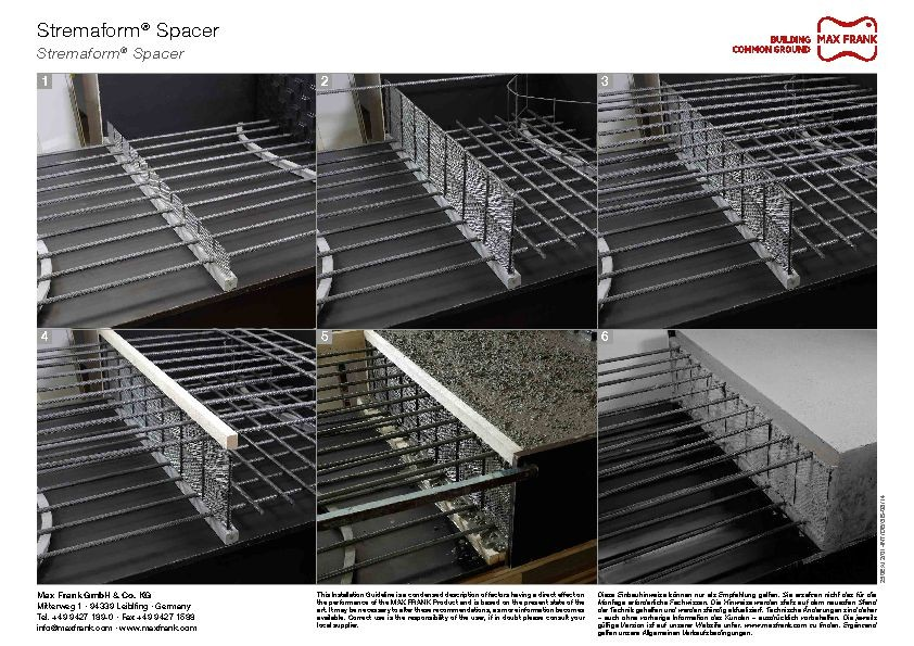 Formwork element for working joints Stremaform® Spacer