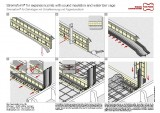 Concrete jointing system for expansion joints Stremaform® with acoustic decoupling and water bar cage