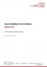 Expanding waterstop Cresco® BT General Building Test Certificate