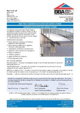 Thermal break balcony connector Egcobox® BBA certificate