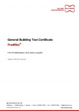 Fradiflex® - General Building Test Certificate