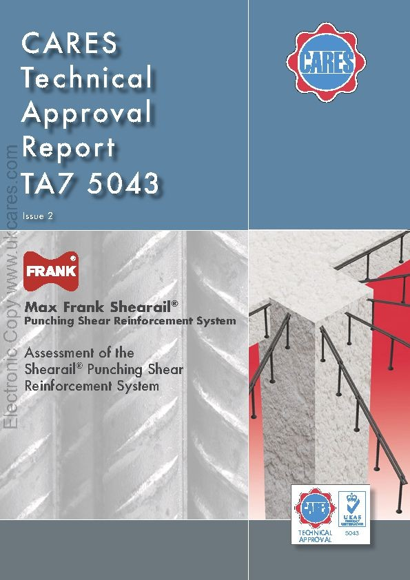 Punching Shear Reinforcement Shearail® CARES Technical Approval